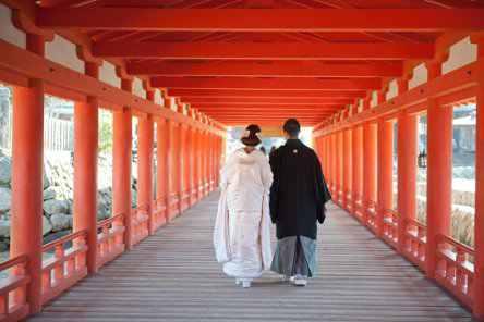 厳島神社挙式(宮島)