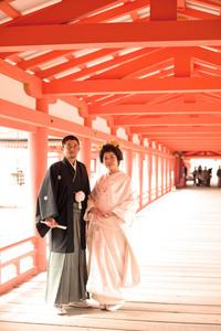 厳島神社 回廊写真