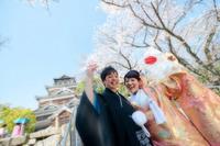 桜シーズンの広島城