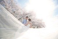 桜満開 土手 広島 前撮り