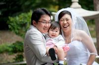護国神社 お子さんと一緒に結婚式