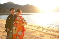 厳島神社挙式 夕日